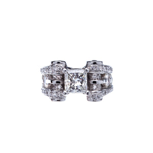 Beautiful Princess Cut Diamond Platinum Engagement Ring