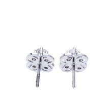 Load image into Gallery viewer, Flower Diamond Stud Earrings
