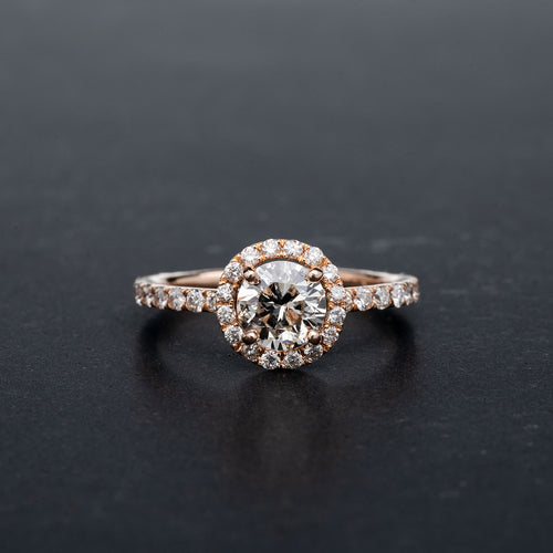 1 Carat Diamond Rose Gold Engagement Ring