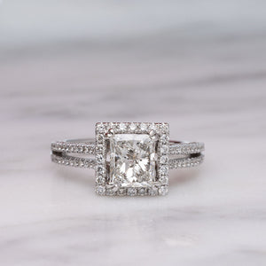 Stunning 1.5 Carat Princess Cut Diamond Engagement Ring