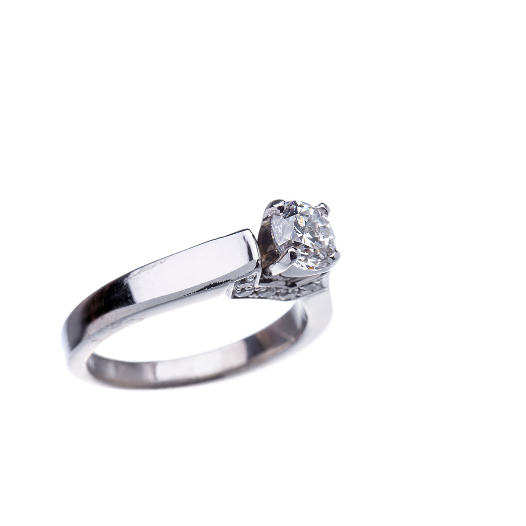 Simple Yet Stunning White Gold Engagement Ring