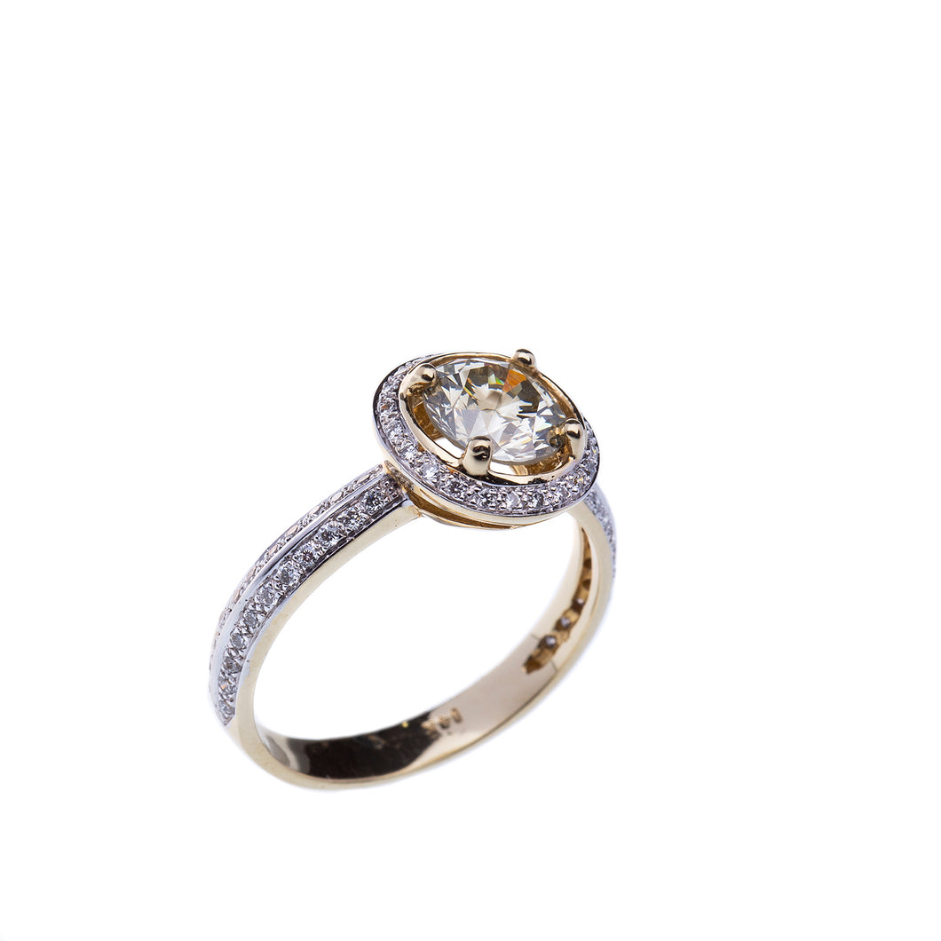 1.11 Carat Round Brilliant Diamond Engagement Ring