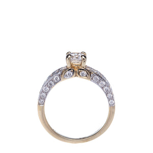 Beautiful Yellow Gold 1.18 CTW Diamond Engagement Ring