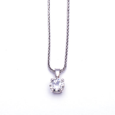 Stunning Round Brilliant Solitaire Necklace