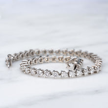 Load image into Gallery viewer, Over 4 Carat Total Weight Diamond Tennis Bracelet