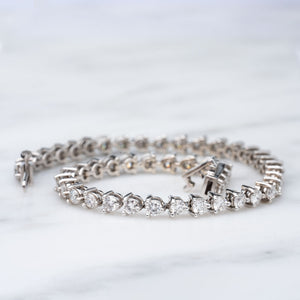 Over 4 Carat Total Weight Diamond Tennis Bracelet