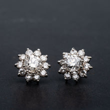 Load image into Gallery viewer, 3.00 CTW Diamond Earrings Halo Studs