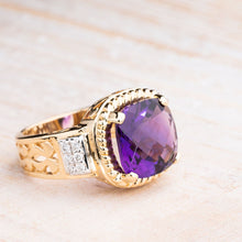 Load image into Gallery viewer, Dramatic Amethyst Surrounded by 1/4 CTW in Diamonds
