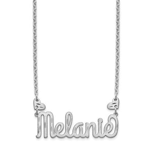 Adorable Custom Name Necklace with Hearts