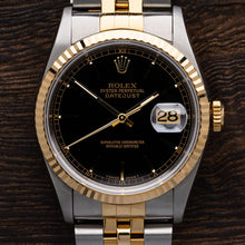 Load image into Gallery viewer, Rolex Two Tone DateJust With Black Dial