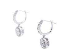 Load image into Gallery viewer, Diamond Cluster Dangle Earrings