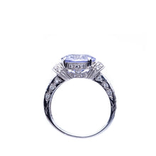 Load image into Gallery viewer, Iolite 2.51 Carat Oval and Diamond Ring 18K White Gold