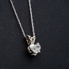 Load image into Gallery viewer, Heart Shaped Diamond Pendant Necklace