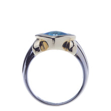 Load image into Gallery viewer, Ladies Blue Topaz Two Tone Fashion Ring