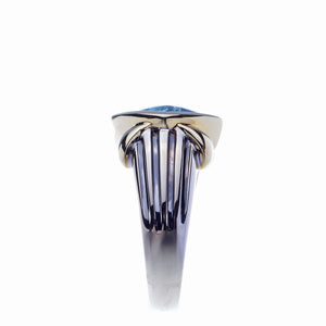 Ladies Blue Topaz Two Tone Fashion Ring