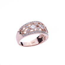 Load image into Gallery viewer, Ladies Rose Gold Diamond Fashion Ring