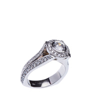 Load image into Gallery viewer, Incredible Bezel Set Modern Split Shank 2.34 CTW Diamond Engagement Ring