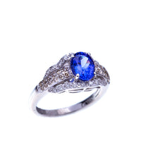 Load image into Gallery viewer, Stunning Levian Tanzanite and Diamond Fashion Ring