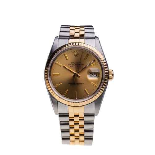 Rolex Two Tone Date Just 1991 Box and Papers