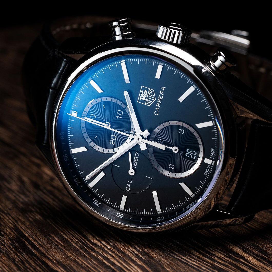 Tag Heuer Carrera Leather Watch