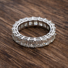 Load image into Gallery viewer, Divine 6.85 Carat T.W. Emerald Cut Diamond Eternity Band Crafted in Pure Platinum
