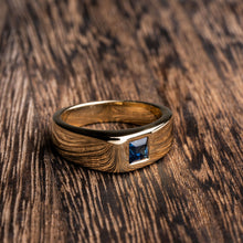 Load image into Gallery viewer, Yellow Gold Blue Sapphire Fashion Ring