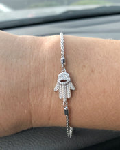Load image into Gallery viewer, diamond hamsa bracelet bolo