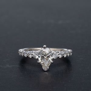 Stunning Pear Shape Diamond Engagement Ring