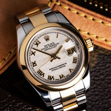 Load image into Gallery viewer, Rolex Two Tone DateJust Roman Numerals Watch