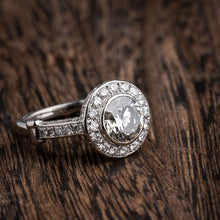 Load image into Gallery viewer, 4.00 Carat Total Weight Bezel Set Diamond Engagement Ring