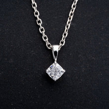 Load image into Gallery viewer, Beautiful Cushion Cut 3/4 Carat Diamond Pendant