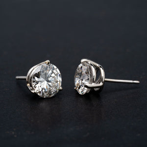 Absolutely Incredible Diamond Stud Earrings Over 3 CTW