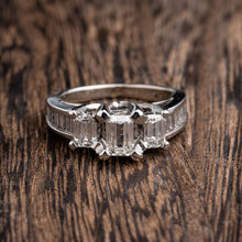 Load image into Gallery viewer, 1.48CTW Emerald Cut Diamond Engagement Ring