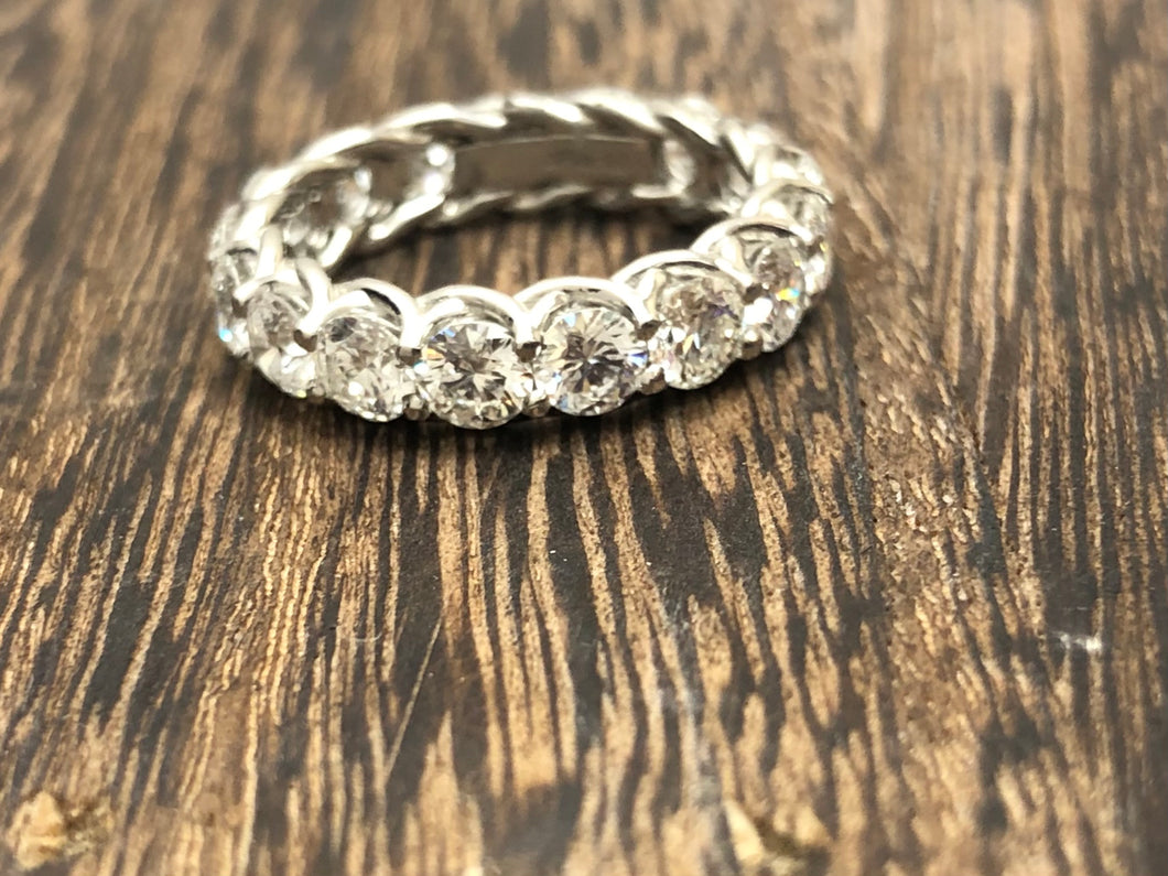 Platinum Eternity Band With Over 3.5CTW in Diamonds