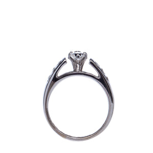 Marquise 14 Kt White Gold Engagement Ring