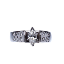 Load image into Gallery viewer, Marquise 14 Kt White Gold Engagement Ring