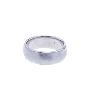 Mens Platinum Brush Finish Wedding Band