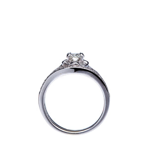 Oval Diamond Split Shank Wedding Set