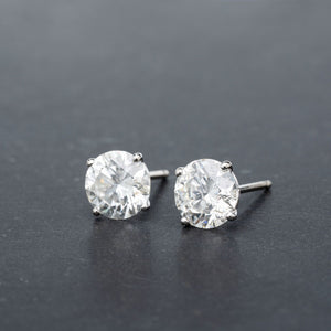 Striking 3.67 CTW Diamond Stud Earrings
