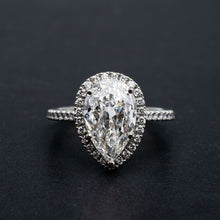 Load image into Gallery viewer, Incredible 3.01 Carat Pear Shape Diamond Engagement Ring