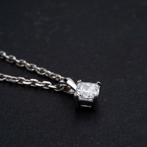 Beautiful Cushion Cut 3/4 Carat Diamond Pendant