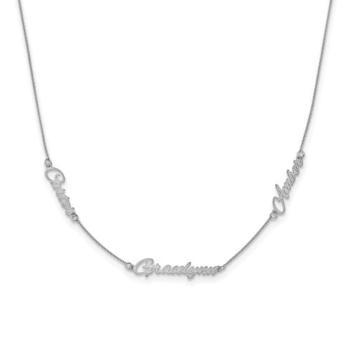 Beautiful Dainty Custom 3 Name Necklace