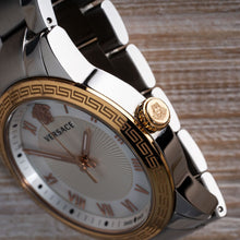 Load image into Gallery viewer, Versace Gold Roman Numeral Mother of Pearl Watch