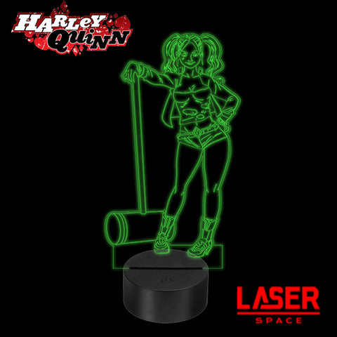 Lampada Led Harley Queen Dc Comics