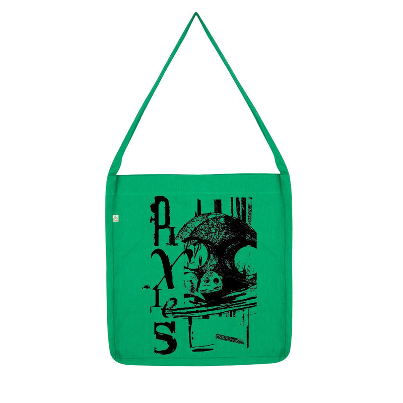 Mask Sling Tote Bag (Melange Green)
