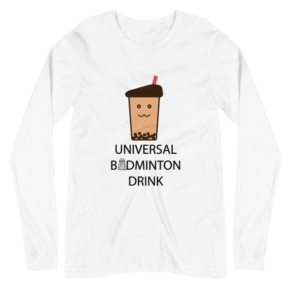 Universal Badminton Drink Long Sleeve (White)