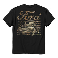 Load image into Gallery viewer, BW - Ford Camo Flag T-Shirt