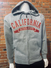 Load image into Gallery viewer, Hoodie zip up CALIFORNIA