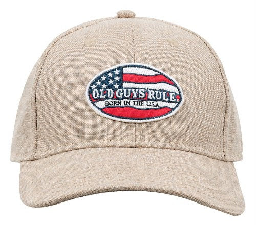 Old Guys Rule - Born USA Patch Hat - OG1004