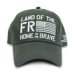 BW - Freedom Flag - Hat